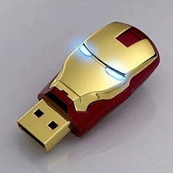 Iron Man Mask The Avengers Metal 16GB Usb 2.0 Memory Stick Flash Drive Red
