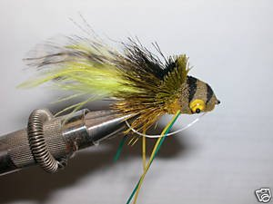 Swimming Frog Fly #8 Bass Fly Rubber Legs Killer Pattern - 1/2 dozen