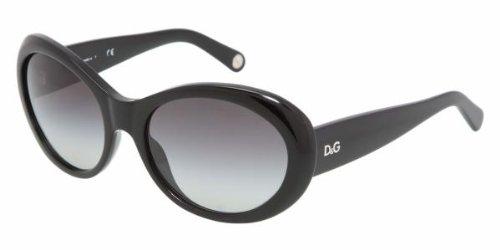 D&G Dolce & Gabbana Women'S 0Dd3058 Round Sunglasses,Black Frame/Gray Gradient Lens,One Size