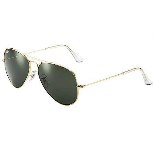 Ray-Ban RB3025 Aviator Large Metal Aviator Sunglasses,