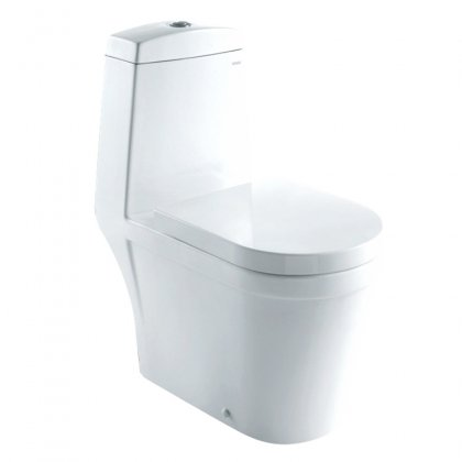 Dual Flush Toilet With 1 Piece Toilet Eco-Friendly Dual Flush High Quality Glaze Seat Included & In