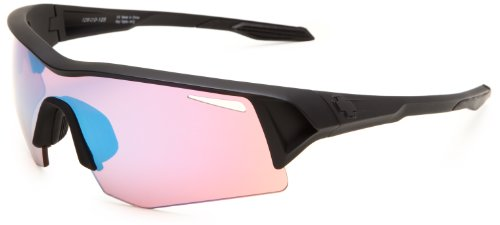 Spy Optic Screw 673019409814 Wrap Sunglasses,Matte Black Frame/Rose Contact Bronze Lens,One Size front-894903