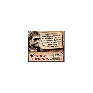 (5x6) Chuck Norris Quotes 2012 Daily Box Calendar