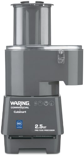 Waring Commercial FP25C Combination Batch Bowl/Continuous Food Processor, 2-1/2-Quart