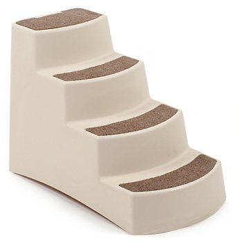 Petmate 29530 Carpeted Pet Steps, Almond