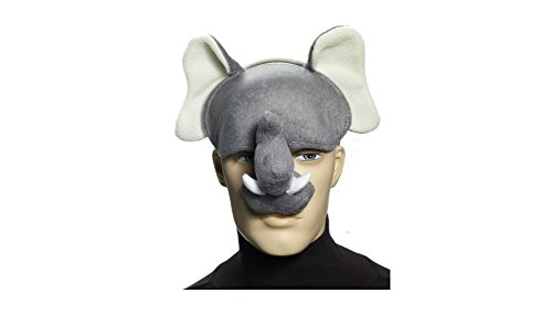 Plush Elephant Costume Half-Mask with Sound