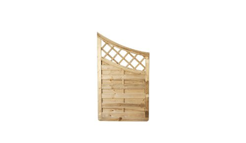 balkon sichtschutz zaun mit spalier und bogenverlauf im. Black Bedroom Furniture Sets. Home Design Ideas