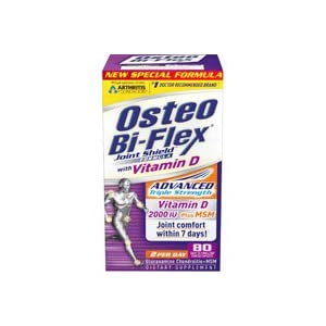 Osteo Bi-Flex Joint Shield Formula with Vitamin D Easy to Swallow Caplets 80 caplets