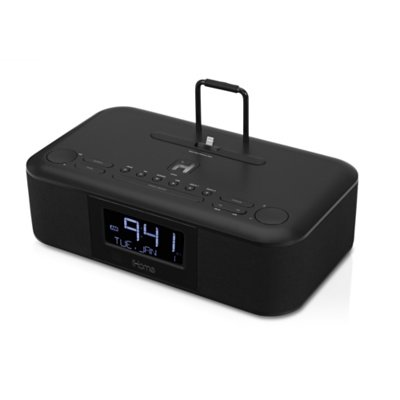 Ihome Idl95 Dual Charging Stereo Fm Clock Radio With Lightning Dock And Usb Charge / Play For Ipad, Iphone, Ipod