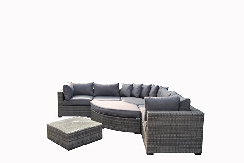 Deals For HGG Luxe Grand Corner Group Sofa Bed Set with Coffee Table ...