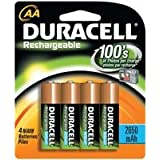 Duracell Rechargeable Accu 2400 mAh AA Batteries - 4 Packby Duracell