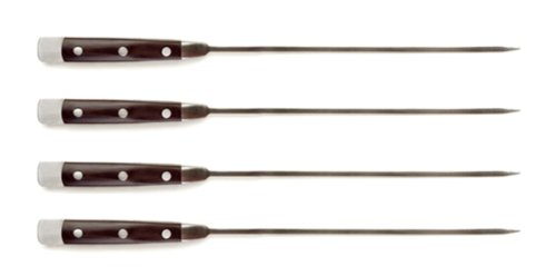Steven Raichlen Best Of Barbecue Stainless And Pakkawood Skewers, Set Of 4