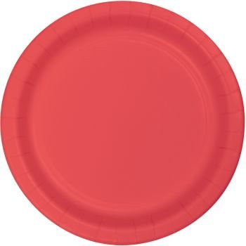 Heavy Duty 9-inch Paper Plates, Coral