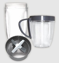 Nutribullet-Cup-Blade-Replacement-Pack-4pc-includes-Tall-Cup-Short-Cup-with-Lip-Ring-Extractor-Blade