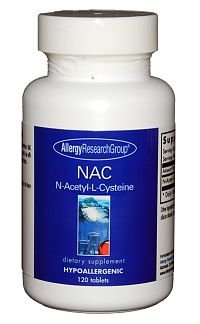 Allergy Research Group N-Acetyl-L-Cysteine, 500mg - 120 Tablets