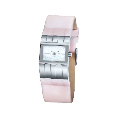 Black Dice Diva Watch BD 009 02 - Analogue With Stainless Steel Case, Genuine Pink Leather Strap and MOP Dial