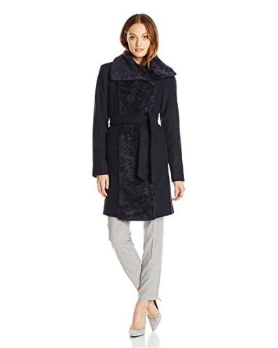 Vince Camuto Women's Faux Fur Contrast Coat