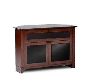 BDI Novia Corner 8421, Single Wide Enclosed Corner Cabinet - Cocoa Stained Cherry