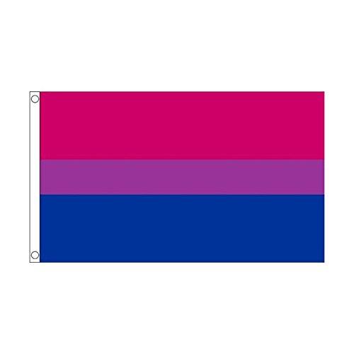 海外限定 国旗 両性愛 バイセクシュアリティ LGBT 90cmx150cm 特大フラッグ【ノーブランド品】