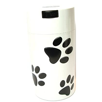 SP Pawvac 24 Ounce Vacuum Sealed Pet Food Storage Container; White Cap & Body/Black Paws at Sears.com