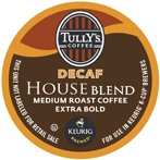 TULLYS HOUSE BLEND DECAF 96 K CUPS