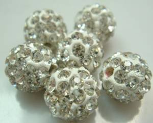 20pcs 10mm Clear Crystal Rhinestone Disco Ball Pave Beads Charms Jewelry Makings (Crystal Beads 10mm compare prices)