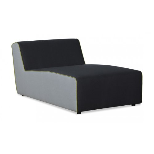 FASHION FOR HOME Chaiselongue Empire Anthrazit-Hellgrau-Hellgrün