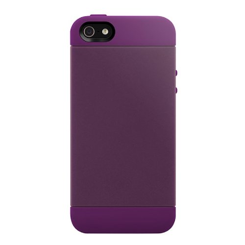 SwitchEasy SWTON5PU Tones Hybrid Case for iPhone 5  1 Pack  Retail Packaging  Dark Purple Picture