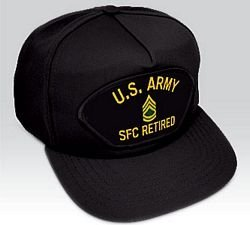 US Army SFC Retired Ball Cap