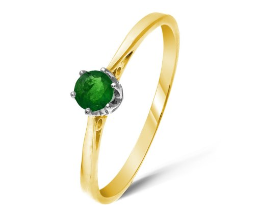 Attractive 9 ct Gold Ladies Solitaire Engagement Ring with Chrome Diopside 0.25 Carat