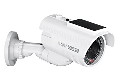 Yubi Power Solar YB-200S Fake Outdoor Surveillance Dummy Security Camera with Blinking IR Light