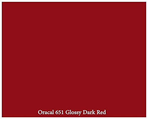 "12"" X 10 Ft Roll Of Glossy Oracal 651 Dark Red Repositionable Adhesive-Backed Vinyl For Craft Cutters, Punches And Vinyl Sign Cutters By Vinylxsticker front-548312"