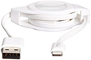 Cable Lightning AmazonBasics, certificado por Apple, 2 pies, color blanco