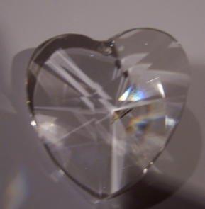 40mm Crystal Heart Prisms #870-40