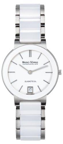 Bruno Söhnle Women's Quartz Watch with Silver Algebra 2Analogue Quartz Ceramic 17-93102-942