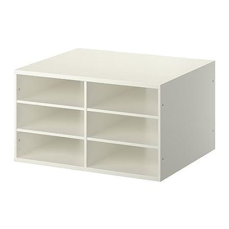 IKEA KOMPLEMENT - estantes seccionado, blanco - 75x58 cm