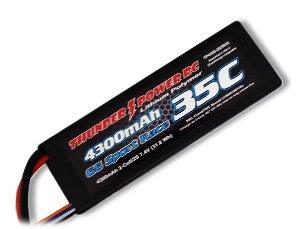4300mAh 2S 7.4V G6 Sport Race 35C LiPo, Deans