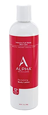 Alpha Skin Care Revitalizing Body Lotion with 12% Glycolic AHA