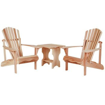 Western Red Cedar - Adirondack Chair/Table Set - Furniture For Your Patio and Garden!