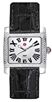 Michele Mini Diamond Ladies Watch - Black alligator