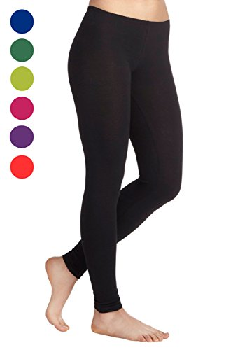 ZpluesX Cotton Lycra Comfortable Leggings for Women (Black, XXL)  available at amazon for Rs.229