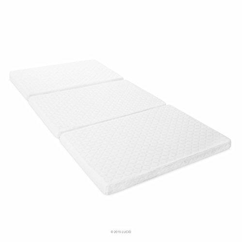 Lucid 3 Inch Folding Memory Foam Mattress Twin Size