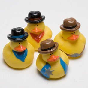 Dozen Cowboy Rubber Ducky Party Accessory