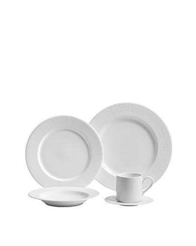 Fortessa 5-Piece Bone China Tela Dinnerware Set, White