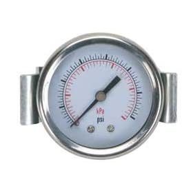 Industrial Grade 4CEZ5 Panel Pressure Gauge, U Clamp, 2In, 3000Psi