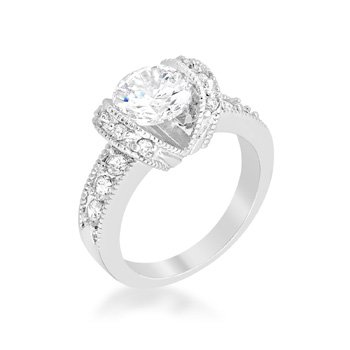 J Goodin Tension Set Engagement Ring Size 5