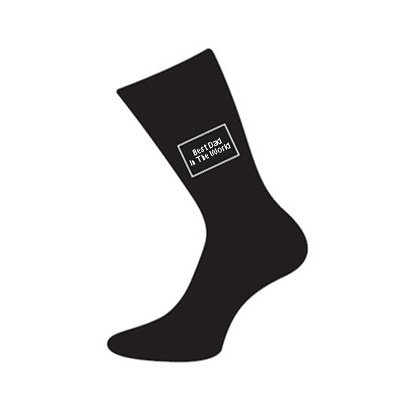 Men's Novelty Designer Best Dad In The World Socks (Fits Size 5 to 12) - A Great Christmas, Birthday, Valentine, Anniversary, Wedding Gift For Husbands, Fathers, Boyfriends, Friends And Work Colleagues