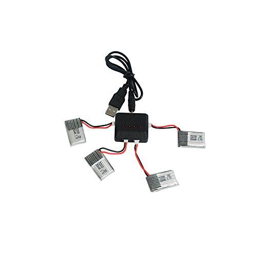 powerhuge-4x37v-250mah-li-po-battery-with-charger-for-syma-x4-x11-walkera-mini-cp-qr-ladybird-3220yo