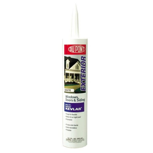 DuPont 07800 10.1-Ounce Door, Window and Siding Sealant with Kevlar, White