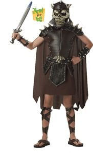California Costume Skulltar the Barbarian Child Size Large (10-12)
